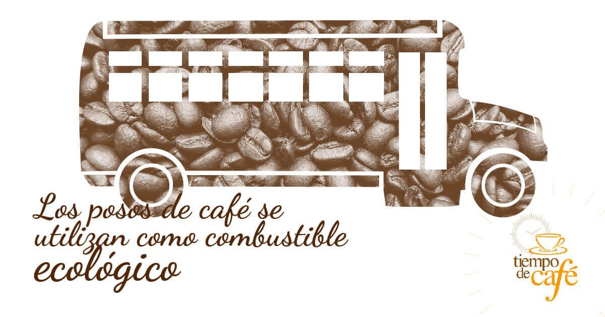 Los posos de café se utilizan como combustible