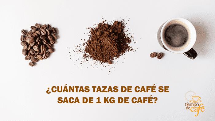 Cuántas tazas de café se sacan de 1kg. de café