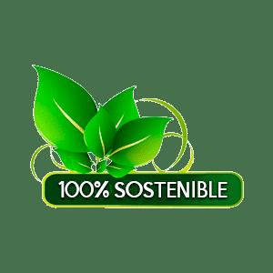 hojas verdes 100 sostenible